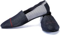 Funk Bish Black and White Loafers For Men(White, Black)