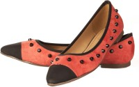 Vero Couture Studded Flat Bellies For Women(Pink)