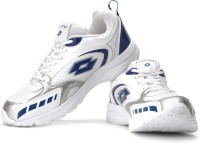 Lotto Thunder Sm Running Shoes For Men(Silver, White, Blue)