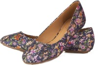 Vero Couture Meshy Floral Bellies For Women(Blue)