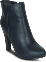 Get Glamr Basic Block Boots For Women(Blue)