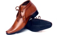 Buenos Original Tan Lace Up Shoes For Men(Tan)