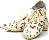 Vero Couture Dachshund Print Casual Shoes For Women(Multicolor)