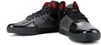Flippd Mid Ankle Sneakers(Black, Red)