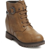 TEN Party & Casual Boots Boots For Women(Tan)