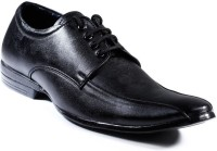 Zapatoz Black Diplomat Lace Up For Men(Black)