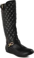 Flat n Heels Boots For Women(Black)