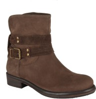 Salt N Pepper 14-648 Dorothea Brown Suede Boots Boots For Women(Brown)