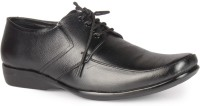 Leather King Williams Black Lace Up For Men(Black)