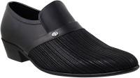 Mochi Mens Formals Mocassin Slip On Shoes(Black)