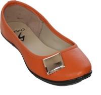 Stylar Jewel Bellies For Women(Orange)
