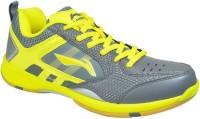 LI-NING Badminton Shoes For Women(Grey, Yellow)