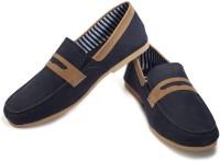Funk Brone Loafers For Men(Blue, Beige)