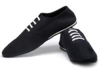 Funk Dore Black Canvas Shoes For Men(Black)