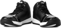 Sparx Mid Ankle Sneakers(Black, White)