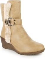 Naisha Boots For Women(Khaki)