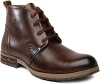 Bacca Bucci High Ankle Length Boots For Men(Brown)