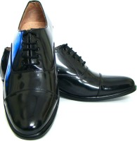 ASM Genuine Leather Oxford Lace Up Shoes For Men(Black)