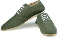 Funk Zore Olive Green Canvas Shoes For Men(Olive)