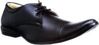 Zapatoz Lace Up Shoes For Men(Black)