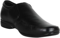 SSG Men's Black Leather Shoe 6 Slip On Shoes For Men(Black)