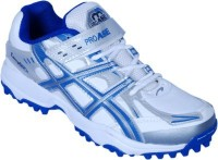 Proase Stud Cricket Shoes For Men(White, Blue)
