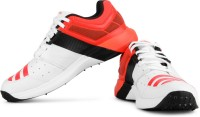 ADIDAS Adipower Vector Cricket Shoes For Men(Black, White, Orange)