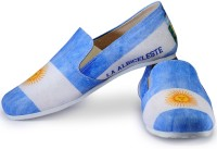 Funk Argentina Light FIFA World Cup Loafers For Men(White, Blue)