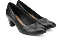 Clarks Denny Harbour Black Leather Slip on(Black)
