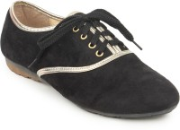 Stylistry Maxis Black Casual Shoes For Women(Black)