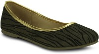 Get Glamr Tigeres Bellies For Women(Gold, Black)