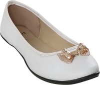 Stylar Take a Bow Bellies For Women(White)