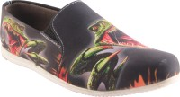 Zapatoz Zapatoz Black Dinosour Loafers For Men(Black)