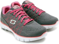 Skechers Skech-Flex Gym & Fitness Shoes For Women(Grey, Pink)