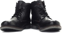 Levi's Hudson Miles High ankle Boots For Men(Black)