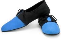 Funk Lan Blue and Black Canvas Shoes For Men(Blue, Black)