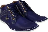 KnightLite Designer Stitched Sneakers For Men(Blue)