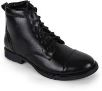 Benera Side Zip Casual Boots For Men(Black)