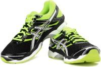 Asics Gel-Cumulus 16 Men Running Shoes For Men(Black, Green)