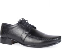 Leather King Nathan Black Lace Up For Men(Black)