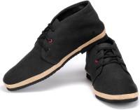 Funk Dozo Black Canvas Shoes For Men(Black)