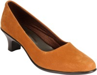 Indulgence Modish Officewear Formals Slip On Shoes For Women(Brown)