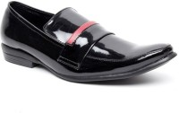 Zapatoz Glossy Black Patent Slip On For Men(Black)