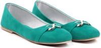 Sindhi Footwear Ballerinas Bellies For Women(Green)