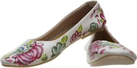 Al Artz Hand Painted Funky Casual Ballerina Shoes For Women(Multicolor)