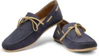 Funk Ling Loafers For Men(Blue, Beige)