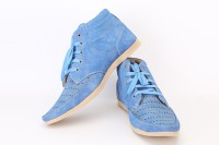 QUARKS Punched Casual Shoes For Men(Blue)