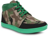 Get Glamr Stylish Sneakers For Men(Green)