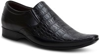 Get Glamr Stylish Formal Slip On Shoes For Men(Black)
