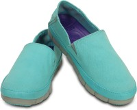 Crocs Loafers For Women(Blue, Grey)